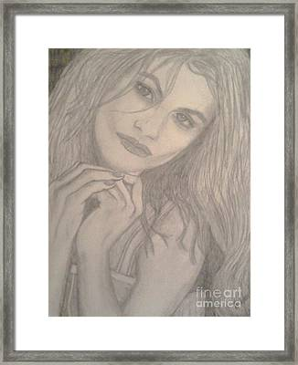 Framed Print featuring the drawing Model by Christy Saunders Church