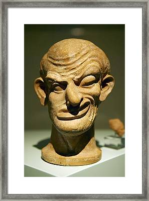 Model Of A Disfigured Person Framed Print by Colin Cuthbert