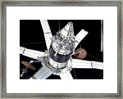 Model Of Russian Molniya-1 Satellite Framed Print