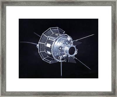 Model Of The Luna 3 Spacecraft Framed Print by Ria Novosti