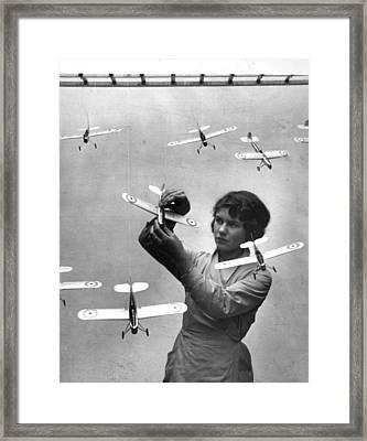 Model Planes Framed Print by Fox Photos