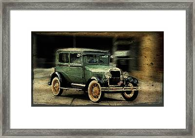 Model T Framed Print by Janice Adomeit