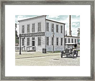 Model T Passes Ford Motor Company Framed Print by Jack Schultz