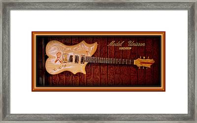 Framed Print featuring the photograph Model Unisson Jlb1505dp Custom Guitar by Danielle  Parent