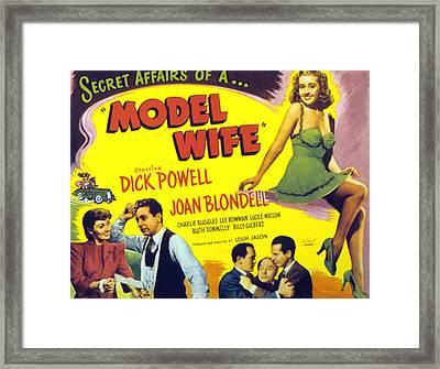 Model Wife, Joan Blondell, Dick Powell Framed Print