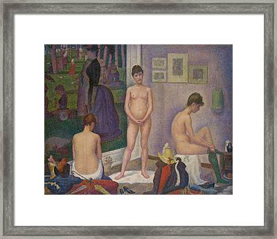 Models Framed Print by Georges Seurat