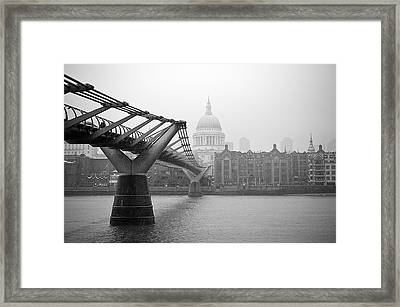 Framed Print featuring the photograph Modern And Traditional London by Lenny Carter