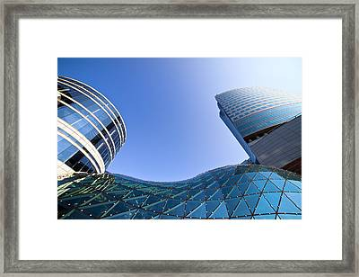 Modern Architecture In Downtown Framed Print by Artur Bogacki