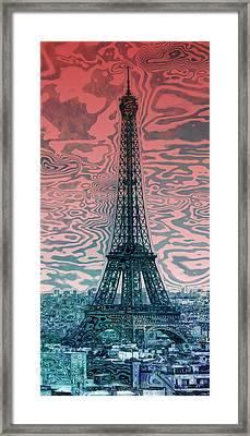 Modern-art Eiffel Tower 17 Framed Print by Melanie Viola