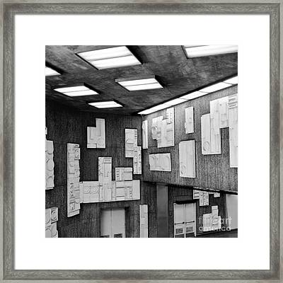Modern Art In Subway Station Framed Print
