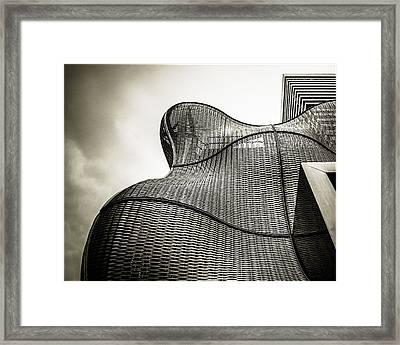 Modern Basket Weaving In London Framed Print by Lenny Carter