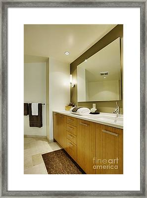 Modern Bathroom Interior Framed Print by Andersen Ross