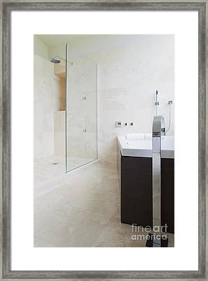 Modern Bathroom Interior Framed Print by Inti St. Clair
