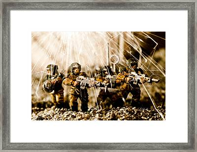 Modern Battle Field Framed Print by Marc Garrido