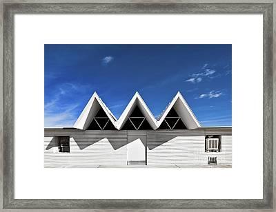 Modern Building Roofing Framed Print by Eddy Joaquim