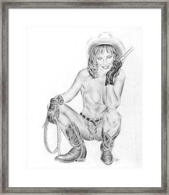 Modern Cowgirl Framed Print