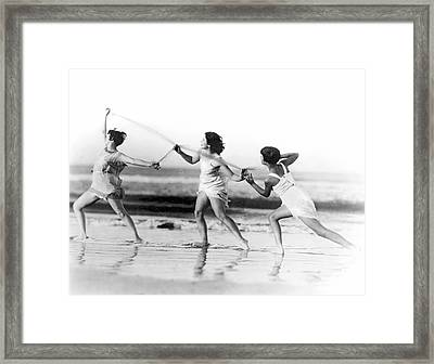 Modern Dance On The Beach Framed Print