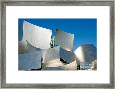 Modern Disney Concert Hall In Los Angeles California Framed Print by ELITE IMAGE photography By Chad McDermott