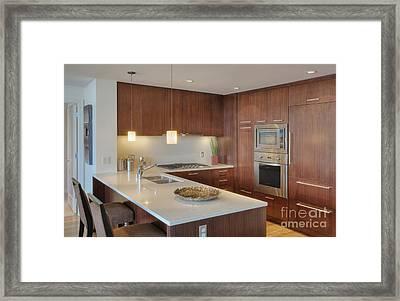 Modern Kitchen Interior Framed Print by Andersen Ross