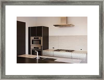 Modern Kitchen Framed Print by Jeremy Woodhouse