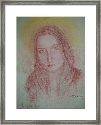 Modern Madonna Framed Print by Sheila Gunter