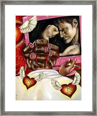Modern Romance Right Framed Print by Hiroko Sakai