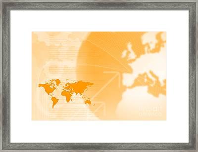 Modern Technology And Globalization Framed Print by Andre Babiak