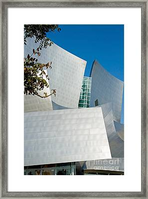 Modern Walt Disney Concert Hall In Los Angeles California Framed Print by ELITE IMAGE photography By Chad McDermott