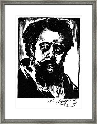 Modest Mussorgsky Framed Print by Granger