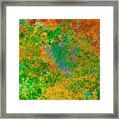 Modesto California Usa - Abstract - Painterly Framed Print by Wingsdomain Art and Photography