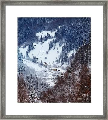 Moeciu Village In Winter Framed Print by Gabriela Insuratelu