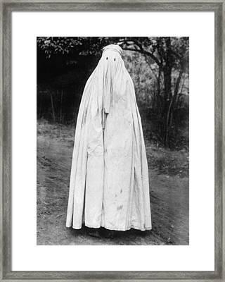 Mohammedan Woman With Head To Toe Burka Framed Print