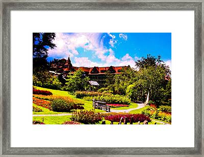 Mohonk Mountain House Garden Framed Print by Michael Ray