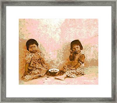 Moki Melon Eaters Framed Print by Padre Art