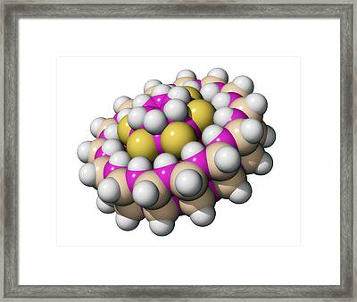 Molecular Bearing, Computer Model Framed Print