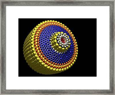 Molecular Differential Gear Framed Print by Pasieka