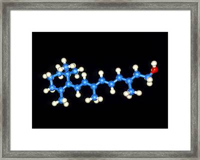 Molecular Graphic Of Vitamin A (retinol) Framed Print