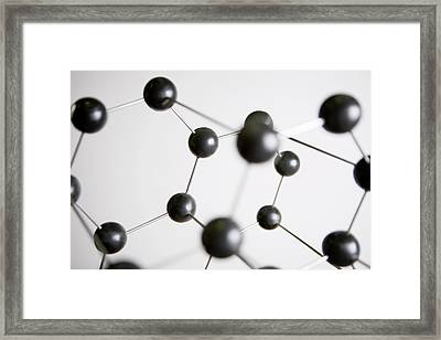Molecular Model Framed Print by Vladimir Godnik