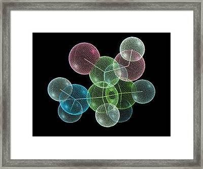 Molecule Of Amino Acid, Alanine Framed Print