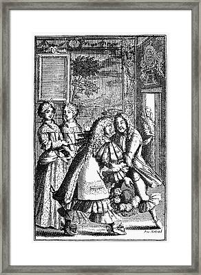 Moliere: Pr�cieuses, 1682 Framed Print by Granger