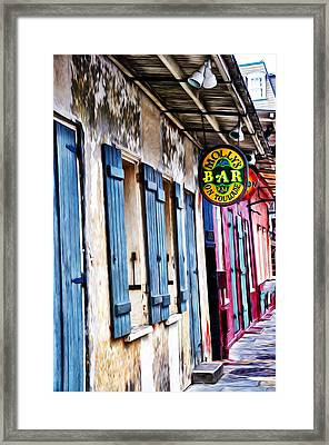 Molly's Bar On Toulouse Framed Print by Bill Cannon