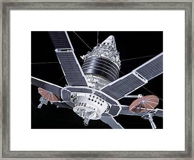 Molniya Military Communication Satellite Framed Print