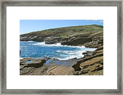 Molokai Lookout 0655 Framed Print by Michael Peychich