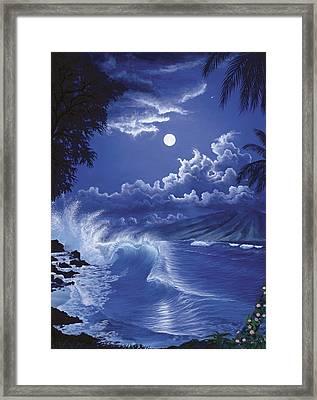 Molokai Moonlight Framed Print