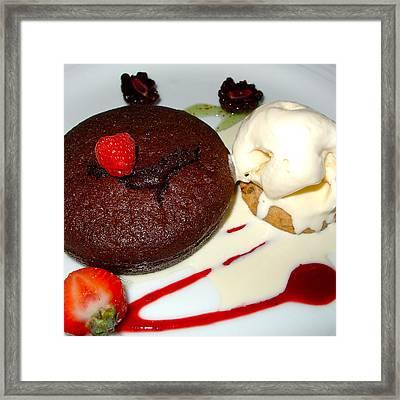 Molten Chocolate Lava Cake Framed Print by Karon Melillo DeVega