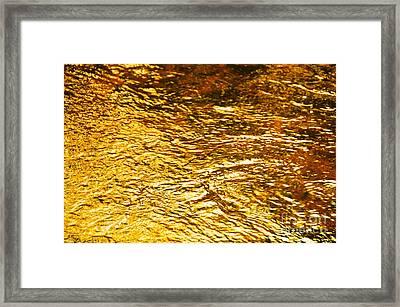 Molten Gold Framed Print