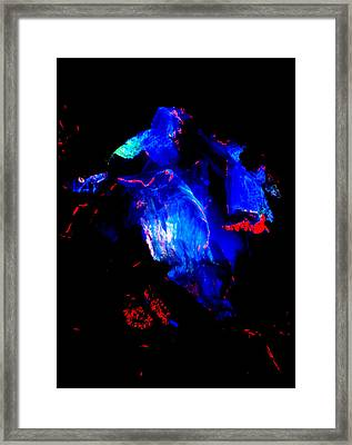 Molten Ice Framed Print by Colleen Cannon