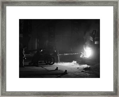 Molten Steel Temperature Measurements Framed Print