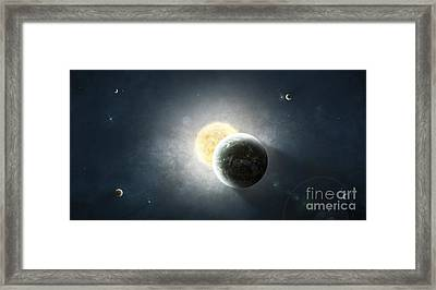 Moments Before A Total Eclipse Framed Print by Tomasz Dabrowski