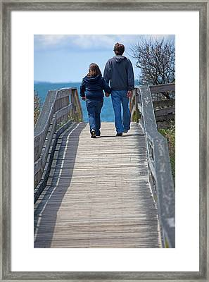 Moments With Dad Framed Print